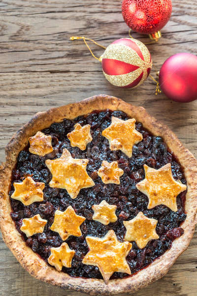 Mince pie on the wooden background Stock photo © Alex9500
