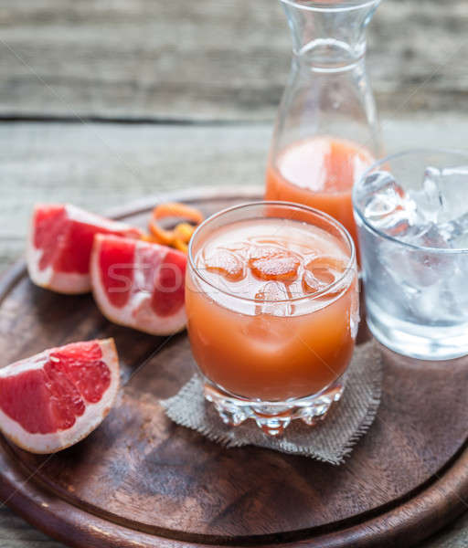 Grapefruit fresh on the wooden table Stock photo © Alex9500