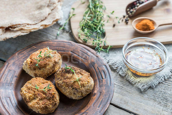 Falafel with wholewheat tortillas Stock photo © Alex9500