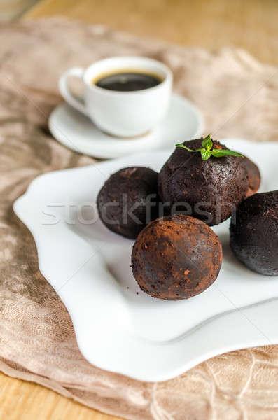 Rum kawy tle restauracji Kafejka Zdjęcia stock © Alex9500