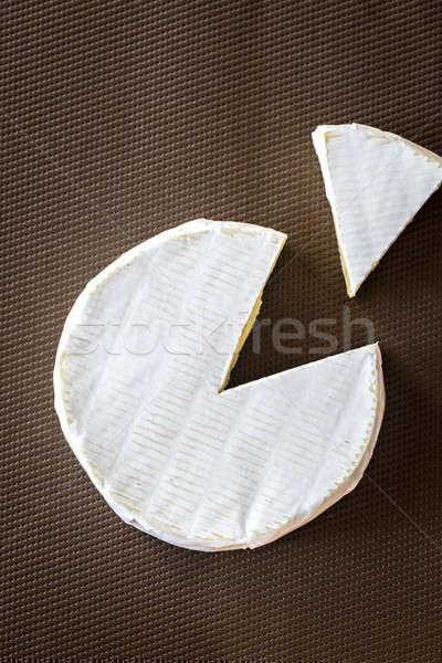 Queijo camembert escuro comida branco macro saudável Foto stock © Alex9500