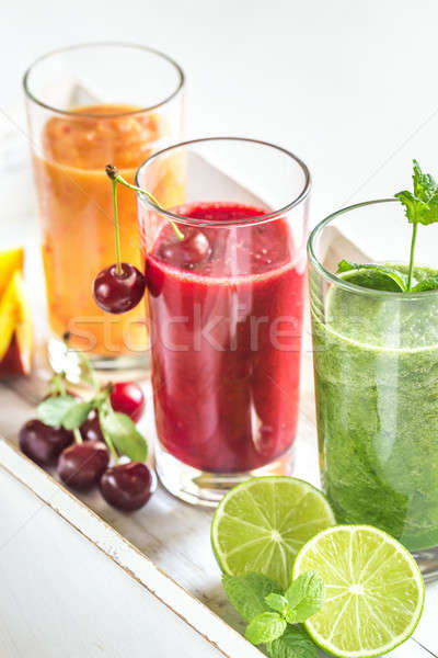Fruit and vegetable smoothies Stock photo © Alex9500