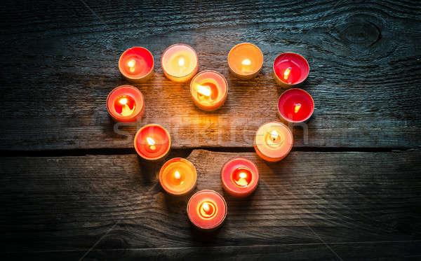 St Valentine's day candles Stock photo © Alex9500