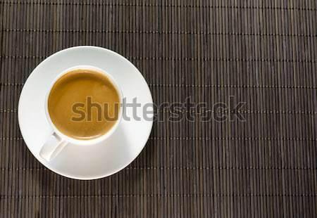 Copo café expresso xícara de café café beber bambu Foto stock © Alex9500