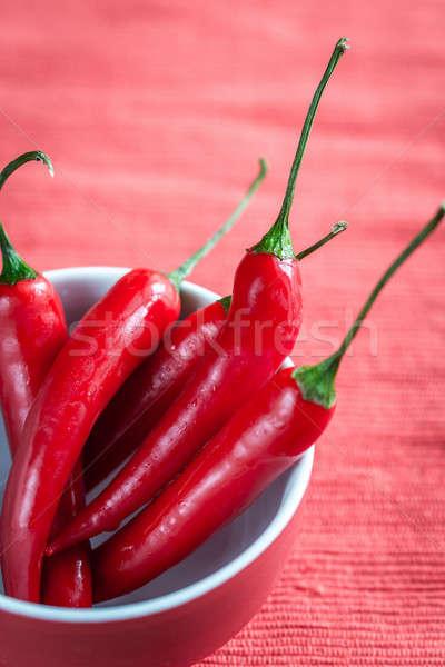 ボウル 新鮮な 赤 食品 背景 ストックフォト © Alex9500