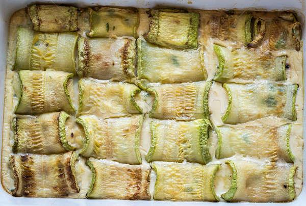 ズッキーニ 詰まった チーズ 食品 ストックフォト © Alex9500