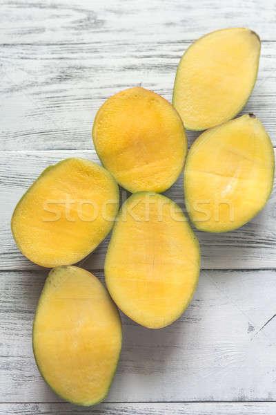 マンゴー 木製 食品 表 色 新鮮な ストックフォト © Alex9500