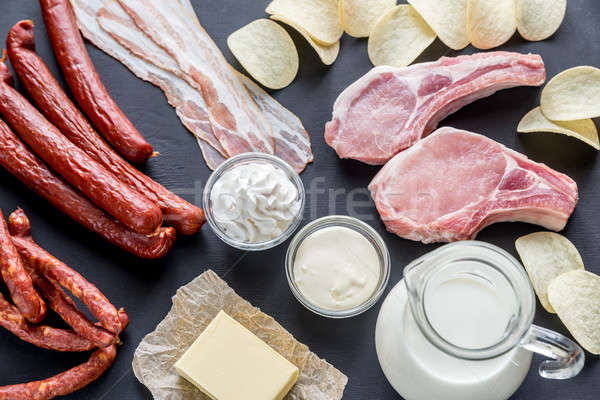 Sources of saturated fats Stock photo © Alex9500
