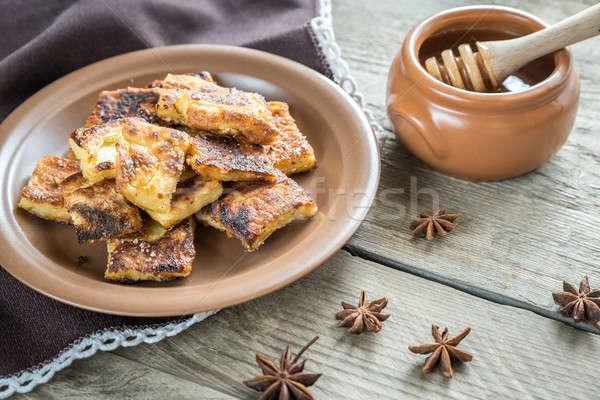 Popular alimentos fondo oro almuerzo Foto stock © Alex9500