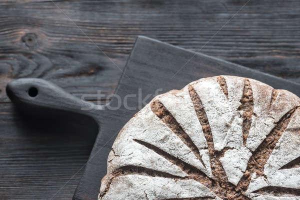 Rozs kenyér diók magok felső kilátás Stock fotó © Alex9500