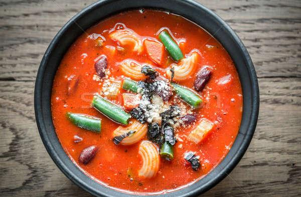 Portion of minestrone soup Stock photo © Alex9500