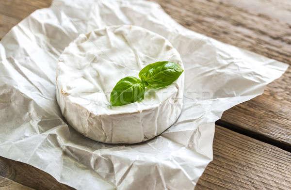 Queijo camembert queijo papel tabela café da manhã cabeça Foto stock © Alex9500