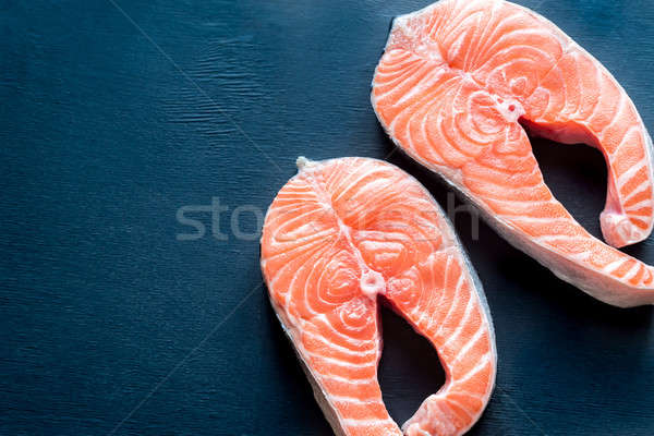 Raw salmon steaks Stock photo © Alex9500