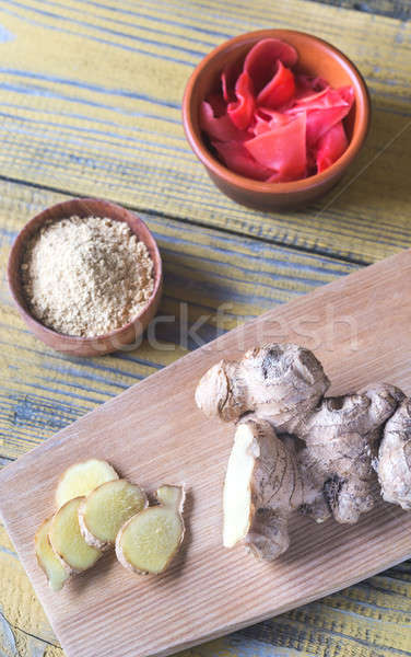 Variety of ginger products Stock photo © Alex9500