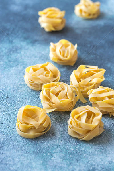 Raw fettuccine pasta Stock photo © Alex9500