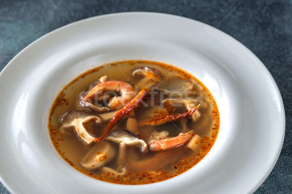 Foto stock: Thai · yum · sopa · comida · grama