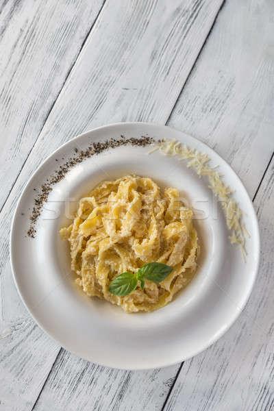 Porción alimentos fondo mesa verde queso Foto stock © Alex9500