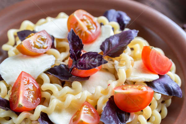 Fusilli lunghi with cheese and cherry tomatoes Stock photo © Alex9500