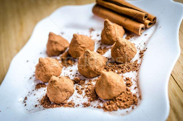 Cioccolato alimentare buio crema dolce terra Foto d'archivio © Alex9500