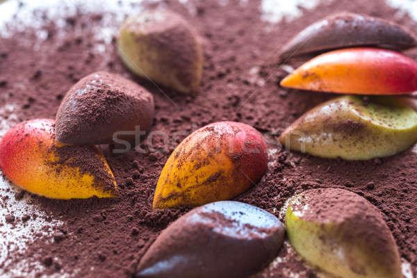 Luxury chocolate candies with cocoa powder Stock photo © Alex9500