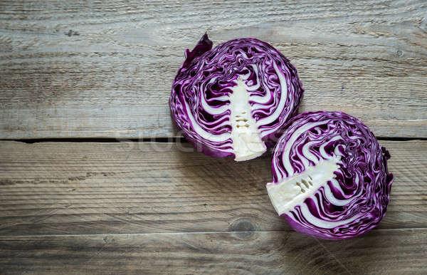 Dos rojo col alimentos ensalada Foto stock © Alex9500