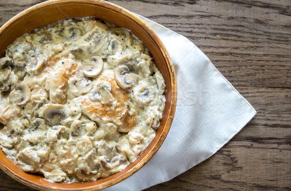 сливочный чеснока гриб куриные сыра мяса Сток-фото © Alex9500