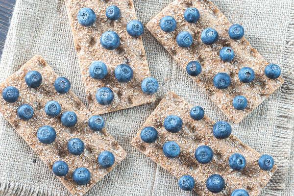 Crispbread with fresh blueberries Stock photo © Alex9500