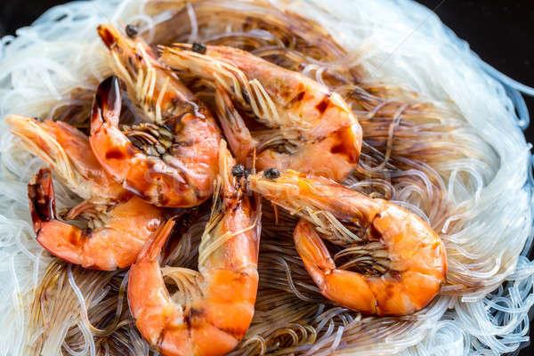 Asian noodles with shrimps Stock photo © Alex9500