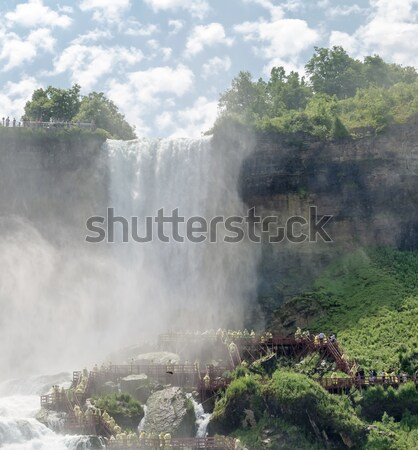 Stockfoto: Niagara · Falls · natuur · boot · Rood · snelheid · macht