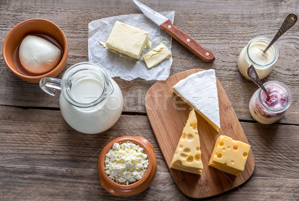 Fruto grupo queijo Foto stock © Alex9500