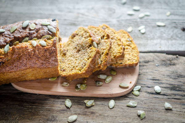 Loaf of pumpkin bread Stock photo © Alex9500