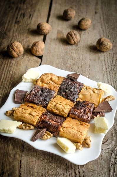 Brownies and blondies Stock photo © Alex9500