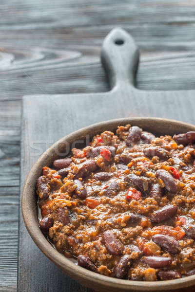 Bowl of chili con carne Stock photo © Alex9500