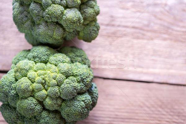 Friss brokkoli fából készült étel természet asztal Stock fotó © Alex9500