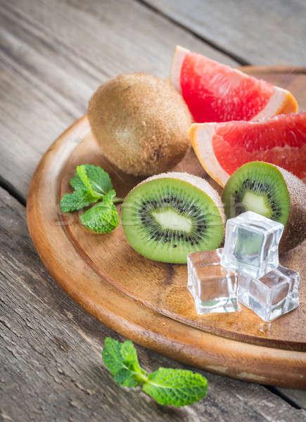 Vers grapefruit blad glas groep drinken Stockfoto © Alex9500
