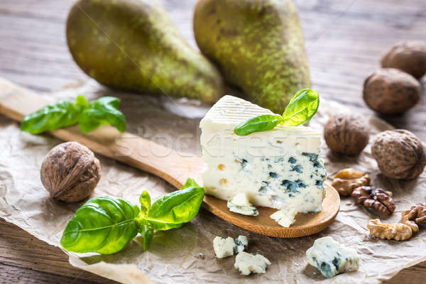 Blue cheese with walnuts and pears Stock photo © Alex9500