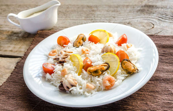 басмати риса морепродуктов рыбы морем фон Сток-фото © Alex9500