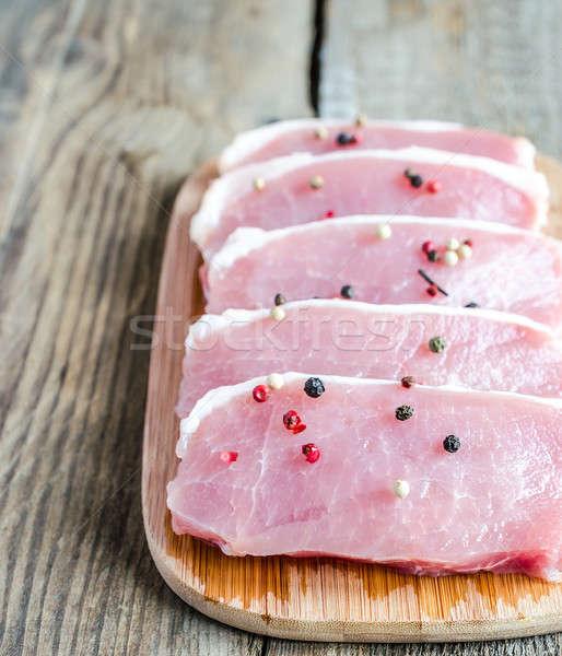 Ruw vlees metaal groep Rood vet Stockfoto © Alex9500
