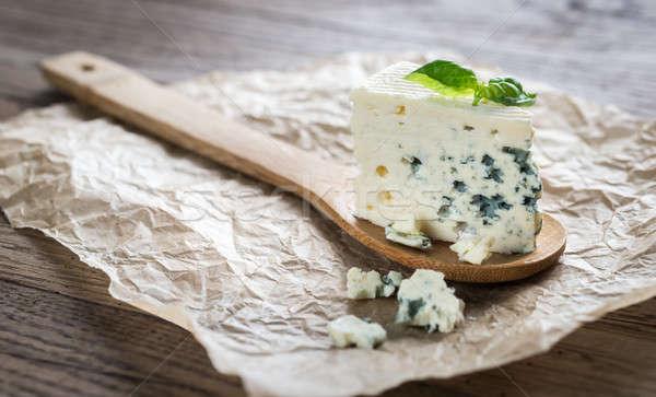 Pezzo formaggio tipo gorgonzola blu gruppo formaggio Foto d'archivio © Alex9500