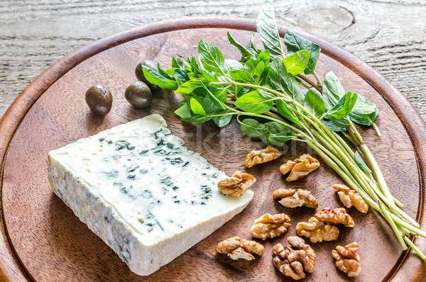 ブルーチーズ 新鮮な ミント 青 グループ チーズ ストックフォト © Alex9500