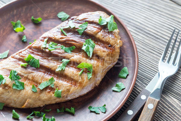 Grilled turkey breast with parsley Stock photo © Alex9500