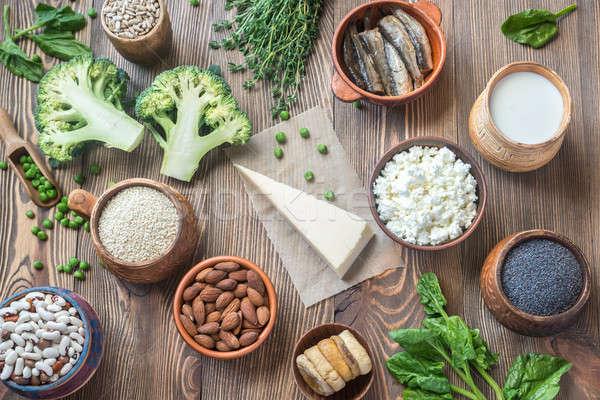 Food rich in calcium Stock photo © Alex9500