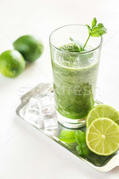 グリーンスムージー 食品 葉 金属 表 緑 ストックフォト © Alex9500