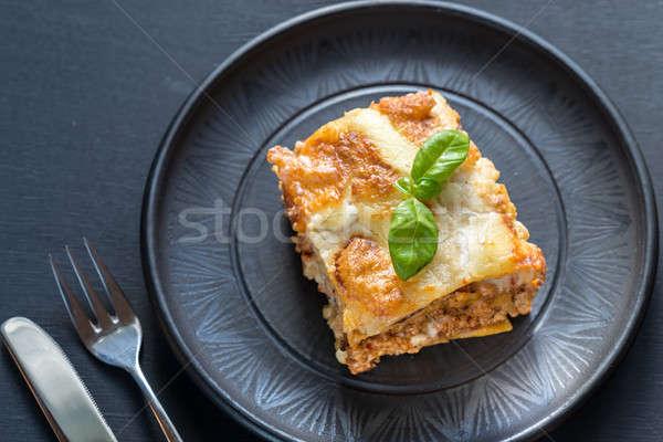 Lasagna pesto alimentare foglia sfondo ristorante Foto d'archivio © Alex9500