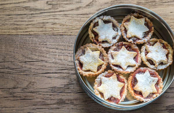Box with mince pies: top view Stock photo © Alex9500