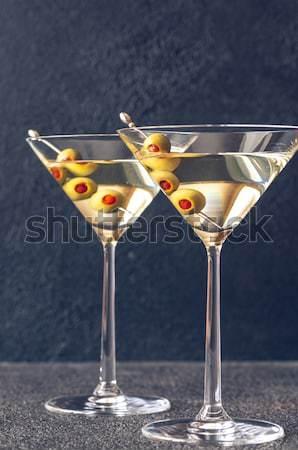 Oliva martini coquetel comida festa vidro Foto stock © Alex9500
