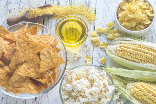 Variación productos alimentos fondo mesa grupo Foto stock © Alex9500