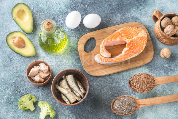 Food with Omega-3 fats Stock photo © Alex9500