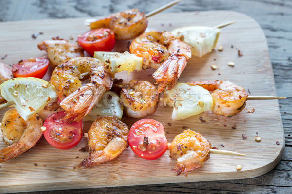 Skewers with shrimps Stock photo © Alex9500