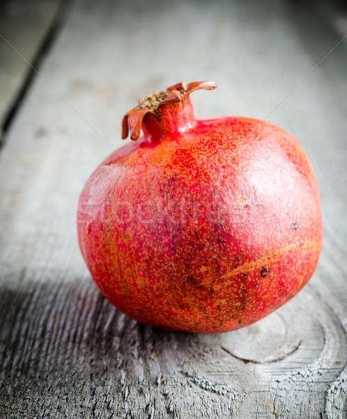 ザクロ 庭園 背景 色 新鮮な 甘い ストックフォト © Alex9500